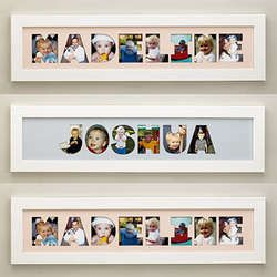 name frame photo collage cute idea cut out with the silhouette either the