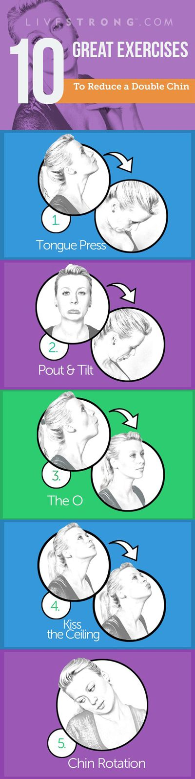 The 10 Best Exercises to Reduce a Double Chin: http://lvstrng.com/1K70JVr