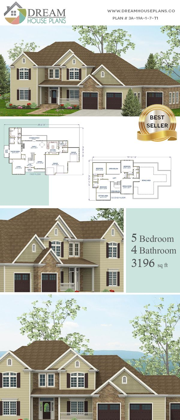 Dream House Plans Best Southern Living Family 4 Bedroom 3196 Sq Ft House Plan With Basement Basement House Plans Simple House Plans Open Floor House Plans