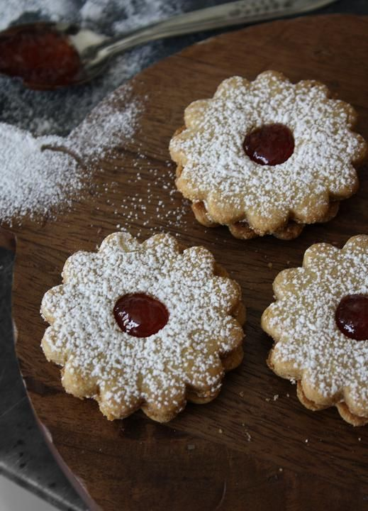 Moroccan jam cookie sandwiches