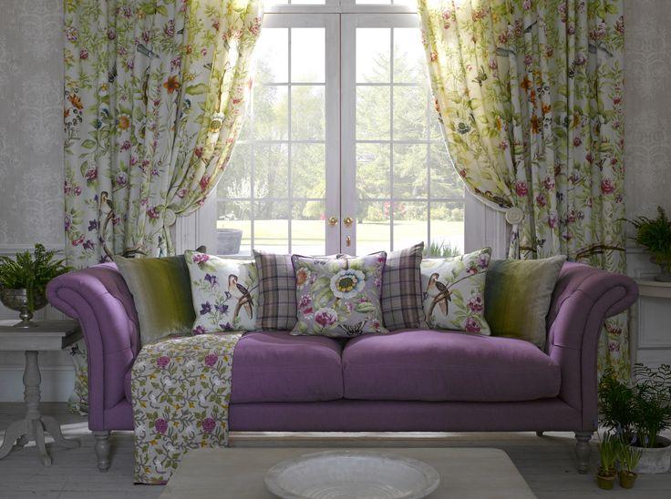 totaalinrichting landelijke klassieke stijl meubelen stoffen behang