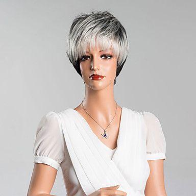 nuovo+arrivo+intelligenti+brevi+parrucche+diritte+senza+cappuccio+di+alta+qualità+colore+misto+dei+capelli+umani+–+EUR+€+27.84