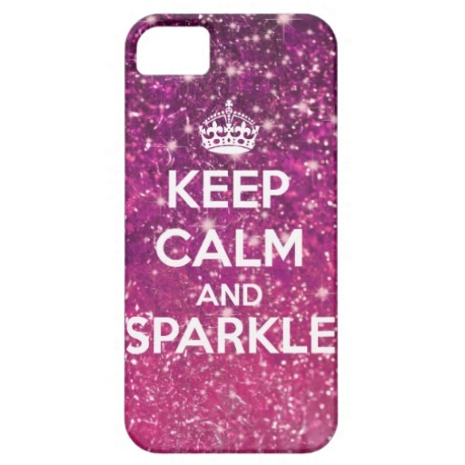 Keep Calm and Sparkle Glitter LookLike iPhone 5 Case