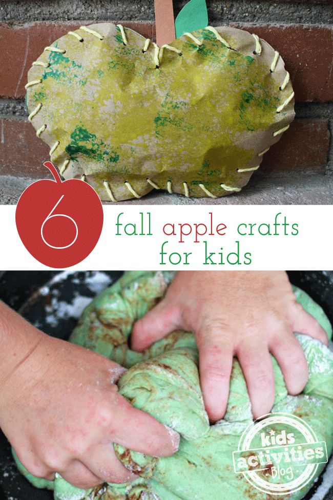 Fun things to do with kids! 6 Fall Apple Crafts For Kids