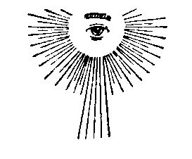 ALL-SEEING EYE -- The All-seeing eye originated in Egypt in those Satanic Mysteries which God physically judged during the time of Moses, when he lead the Israelites out of the land by the mighty hand of God.  The All-Seeing Eye was representative of the omniscience of Horus, the Sun God,