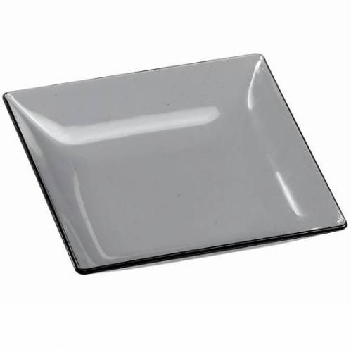 save on fluid smoked grey square fancy rigid disposable plastic mini sample dish for wedding dinner party or elegant event