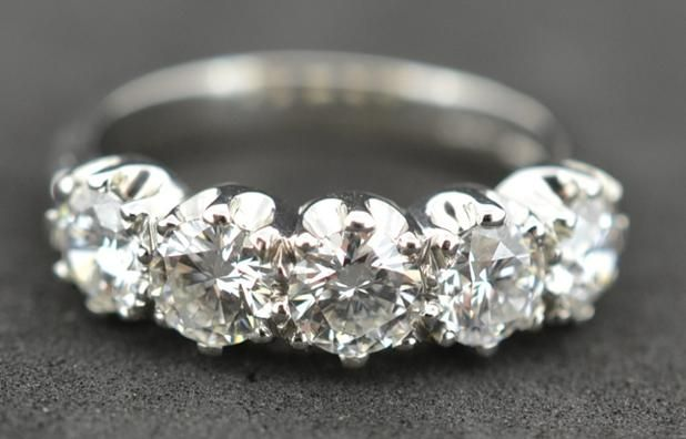 2.12 Carat 5 stone set in Platinum #diamonds #Platinum #PlatinumCork