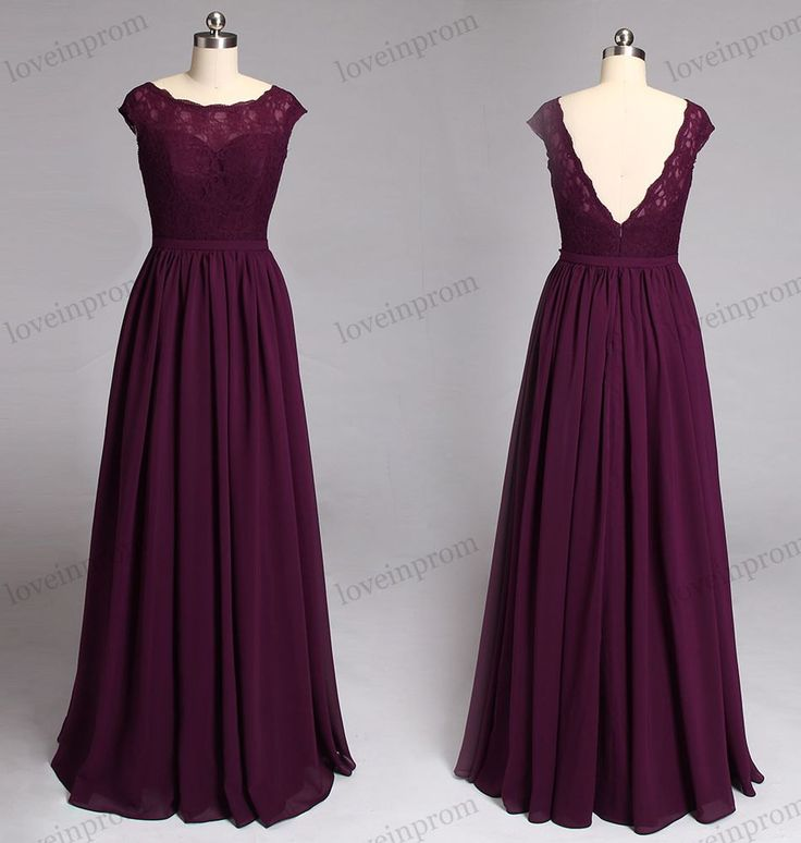 Wine Lace Bridesmaid Dress, Cap Sleeves Long Chiffon Bridesmaid Dresses , V Backless Formal Wedding Guest Dress , Lace Dress For Bridesmaids YY 27 Rush order link : https://www.etsy.com/listing/204394416/rush-order-for-the-custom-made-dresses? Fabic/color sample link: https://www.etsy.com/listing/202864583/color-sampleschiffon-fabric-swatch?ref=shop_home_active_1 Size/Measurements Chart link : https://www.etsy.com&...