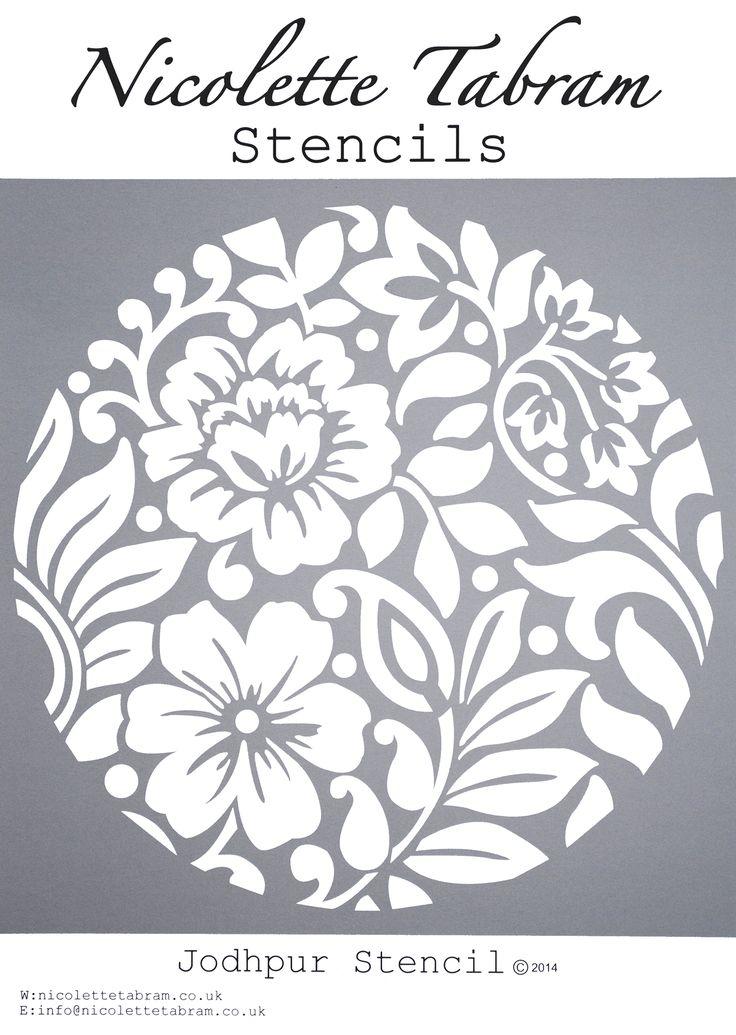 Jodhpur Stencil. Perfect for furniture, floors and fabric nicolettetabram.co.uk