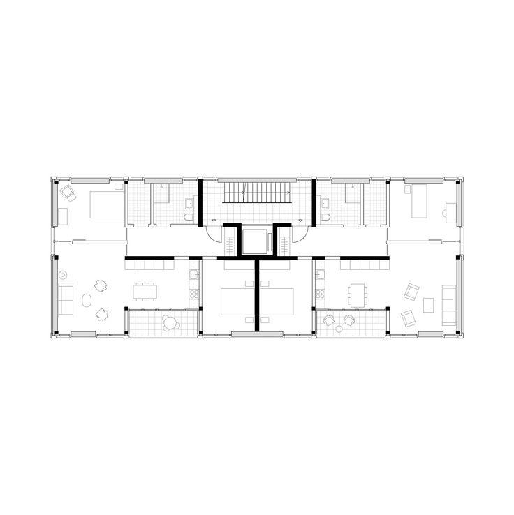 25 best ideas about grundriss mehrfamilienhaus auf for Zweifamilienhaus plan