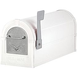 Heavy Duty Mailboxes for Sale | White/ Silver Eagle Heavy-duty Rural Mailbox