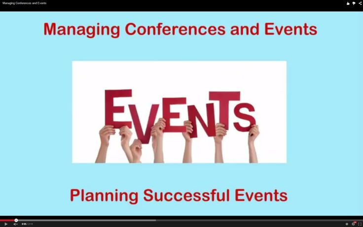 Managing Conferences and Events  In this video, we'll look at the benefits of hosting a customer event or conference. We'll also look at a step-by-step approach that you can use to plan and deliver a successful event.