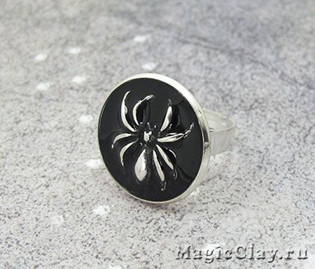 Кольцо Паук Урок - Украшение своими руками - фурнитура для бижутерии - эпоксидная глина Crystal Clay