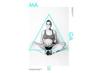 graphic pregnancy by Antoine Garcia Suarez