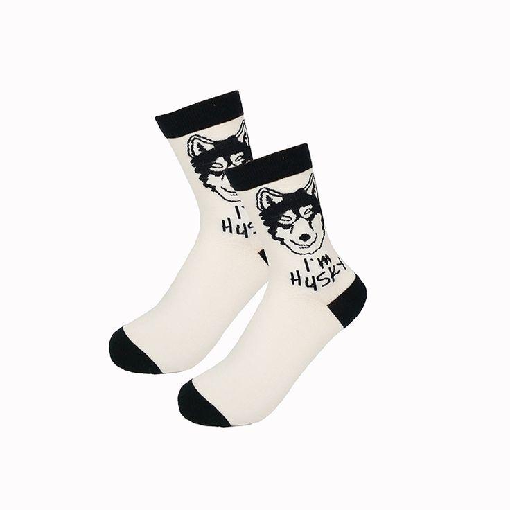 1 par freeshipping New fashion mulheres homens coloridos de algodão cão meias Primavera meias casal amante Ocasional Pílula Fox vermelho neutro Hot em Meias de Das mulheres Roupas & Acessórios no AliExpress.com | Alibaba Group