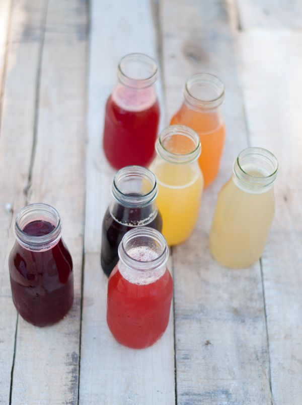 easy to make fruit flavored simple syrups - use them to make flavored lemonades or tasty snow cones!