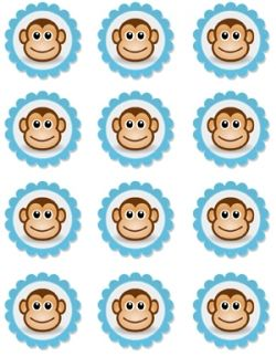 free printable monkey cupcake toppers