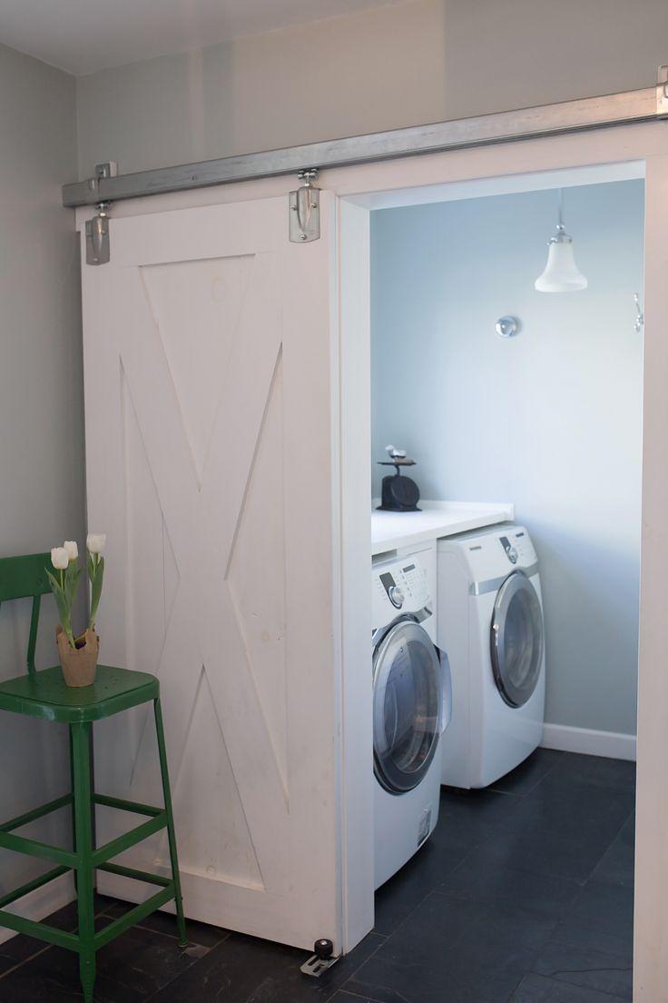 Hidden bathroom door - House 214 Design House Tour Bathroom Barn Doorlaundry