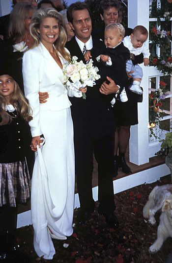 Christie Brinkley with husband 4 - Peter Cook.