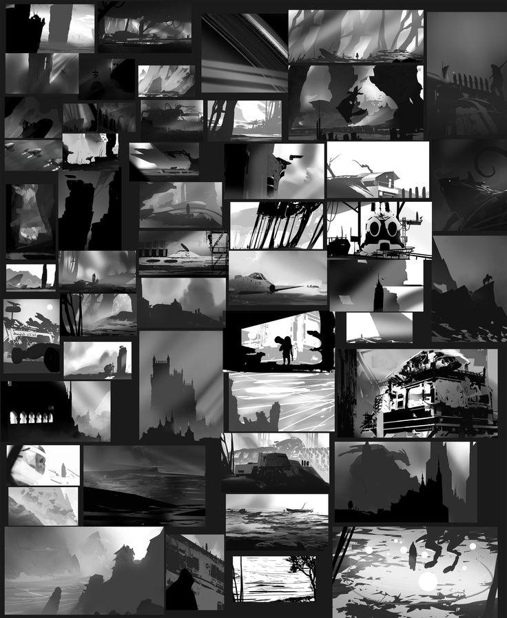 ArtStation - Composition thumbnails, Geoffrey Ernault