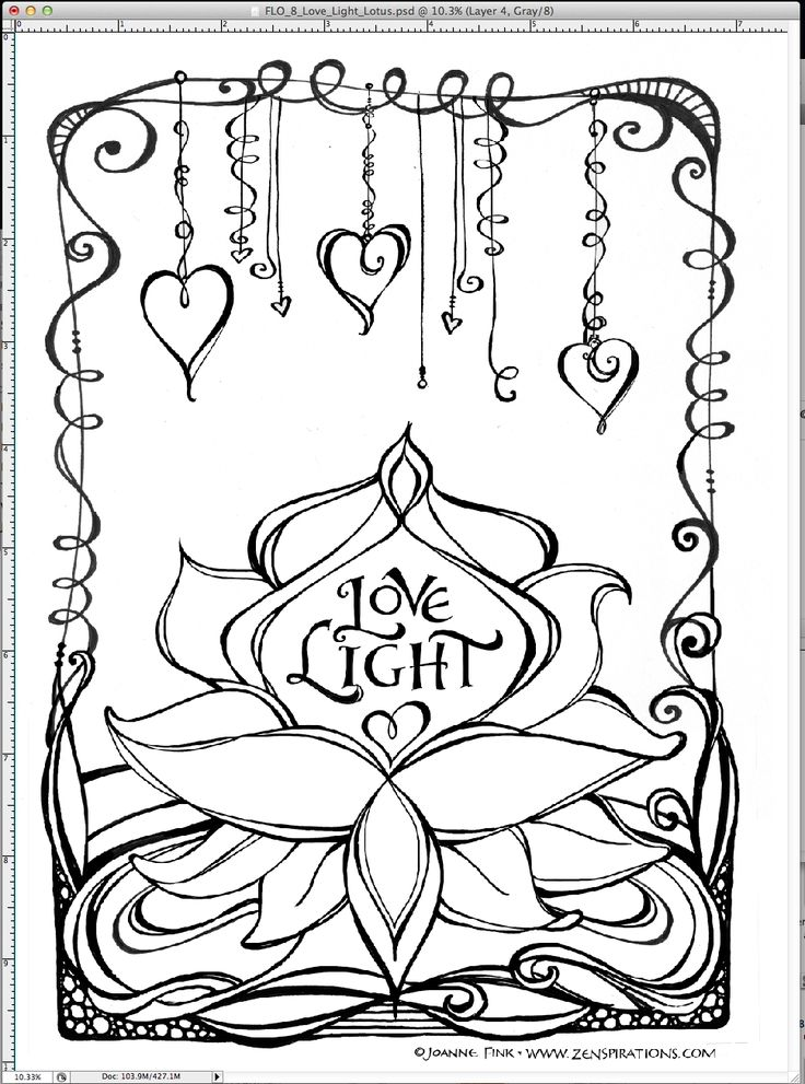 This Zenspirations Dangle Design is from a page of my new Zenspirations Flower Coloring book... color, create, pattern & play!