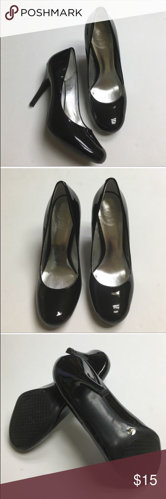 Jessica Simpson heels Black patten 4 in heel. Make me an offer Jessica Simpson Shoes