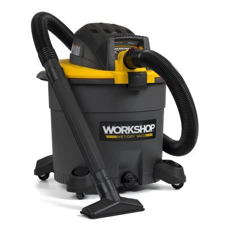 Workshop 16 Gallon, 6.5 Peak Hp Wet/Dry Vacuum, Gray