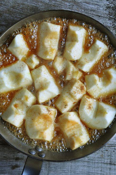 pommes caramel tarte tatin