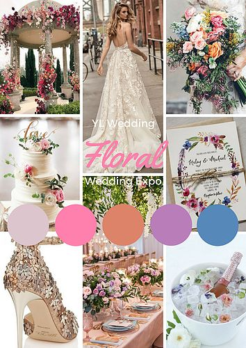 If you are a flower fan, this theme is for you- the Floral Wedding Theme.