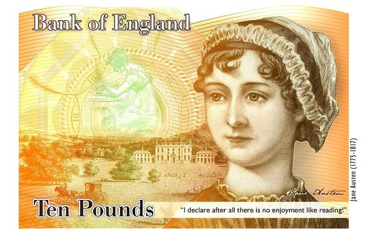 Bank of England Mark  £10 Jane Austen is targeted for issue during 2016.