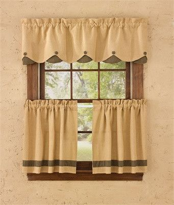 Double scalloped valance and curtain