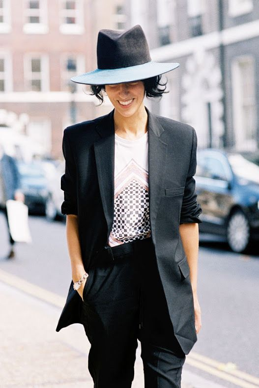 #VanessaJackman Blazer Suit Boyfriend Hats