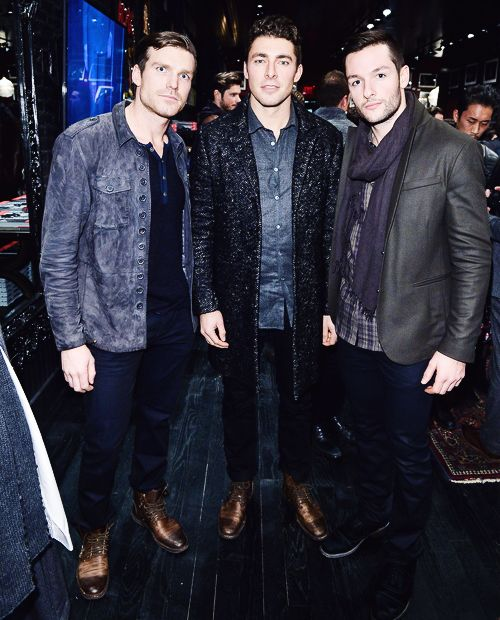 David Clarkson, Joffrey Lupul, and Jonathan Bernier are all GQ'd up for the night. These are the guys your mother warned you about. (kane.tumblr.com)