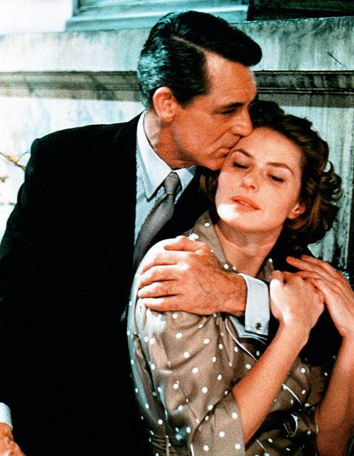 Cary Grant and Ingrid Bergman, Indiscreet (1958). To be held in the falling rain and gently kissed as this...a dream came true on October so long ago...