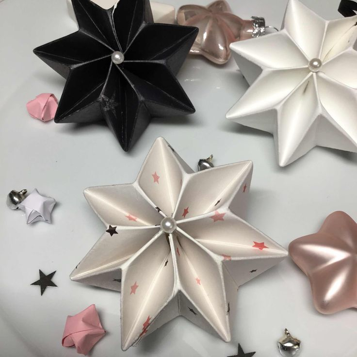 Tardisblau Plissee Sterne Sterne Falten Weihnachten Weihnachtsdeko Selber Basteln Basteln Weihnachten