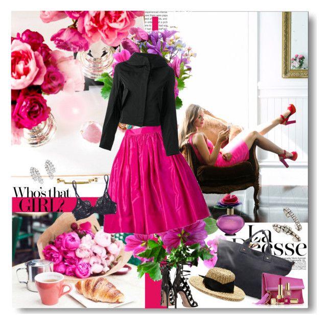 """Fashion Heartbreaker"" by jacque-reid ❤ liked on Polyvore featuring Martin Grant, Jil Sander, DANNIJO, La Perla, Clare V., Sensi Studio and Estée Lauder"