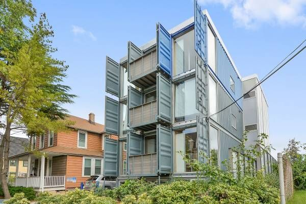 This Rental Is Located In Brookland The Craigslist Ad Says 1099 6br 1850ft2 Live With Your Frie Shipping Container Container Buildings Prefab Homes