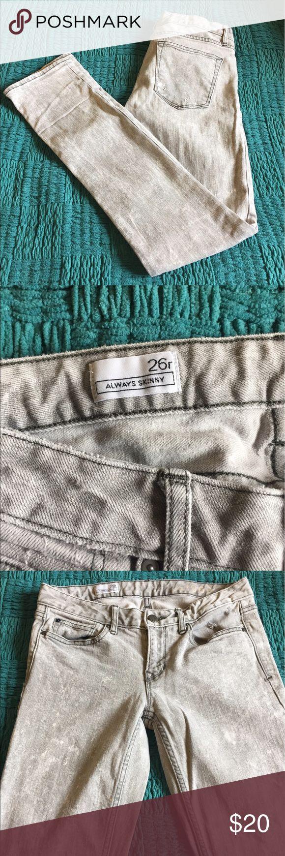 Gap 'Always Skinny' acid wash jeans Great condition! GAP Jeans Straight Leg