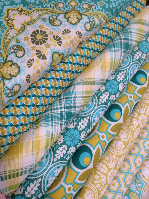 Notting Hill Fabric bundle by Joel Dewberry for Free Spirit Fabrics- Fat Quarter Bundle, 8 total