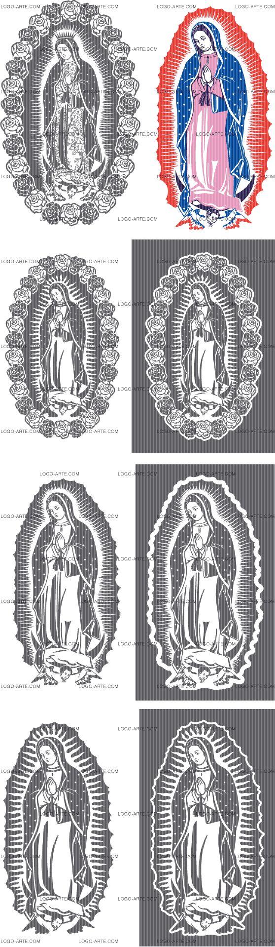 La Virgen de Fátima vectorizada para cortar en plotter, grabado e impresión.