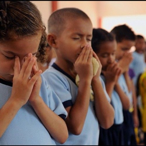 Praying with our children.  Make it more personal and not repetition.