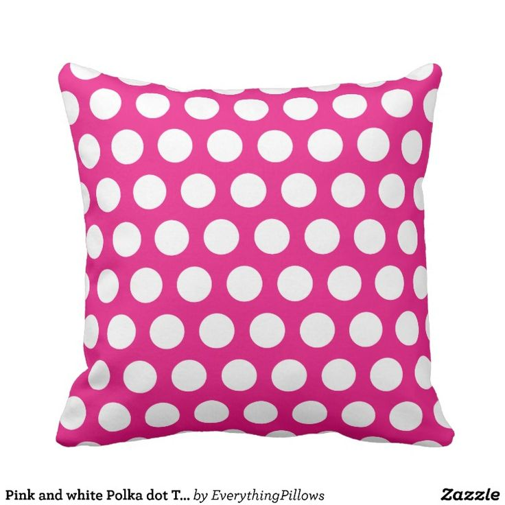 22 best Pink Polka Dot Throw Pillows images on Pinterest ...