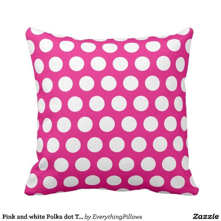 22 best Pink Polka Dot Throw Pillows images on Pinterest ...