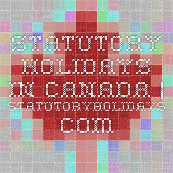 Statutory Holidays in Canada   StatutoryHolidays.com