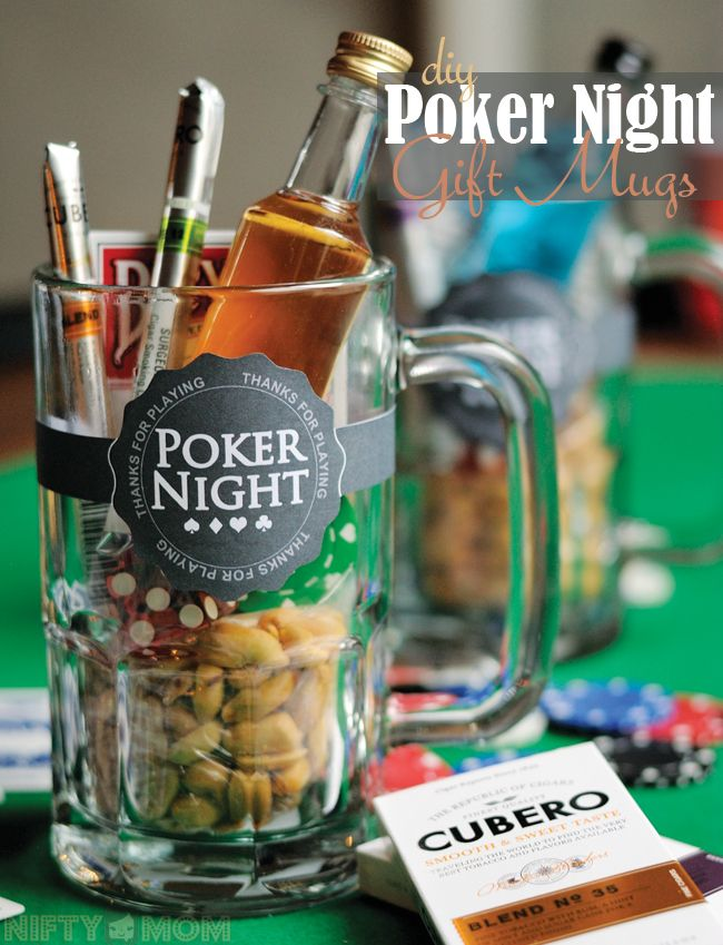 DIY Poker Night Gift Mugs - Perfect for hosting a poker night #CuberoLuxury #pmedia