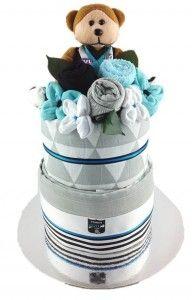Port Power nappy cake - Adelaide baby gift