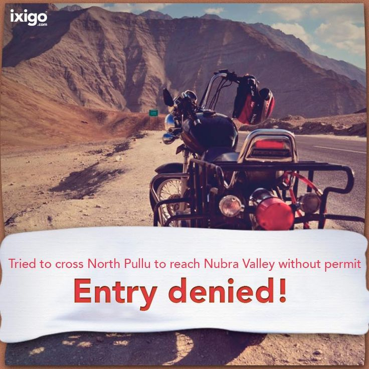 Crossing North Pullu to reach Nubra Valley is possible only if you have a government permit. #travel #india
