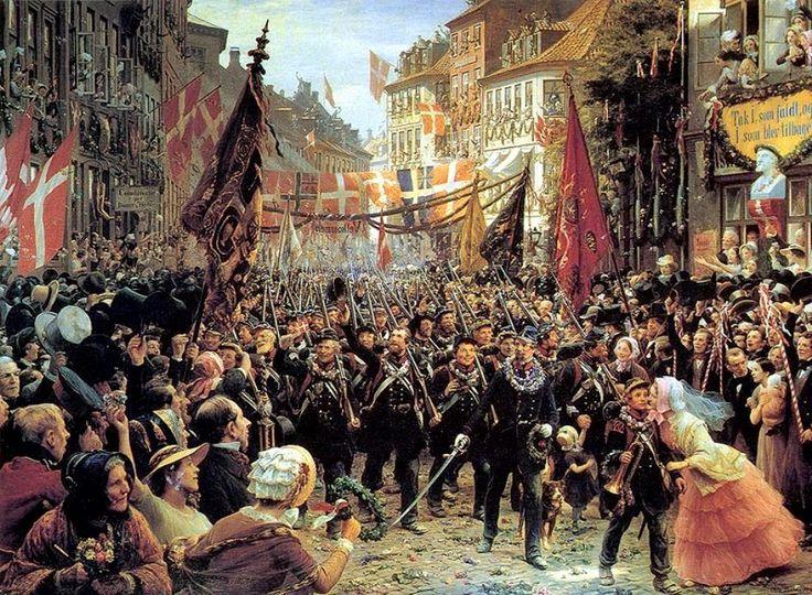 Bache, Otto (b,1839)- Danish Soldiers Return to Copenhagen, 1894.