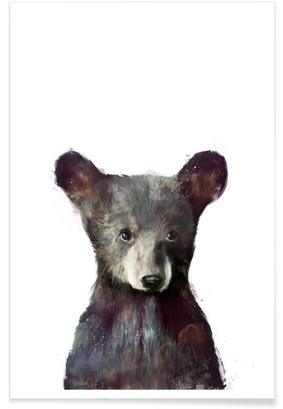 Little Bear as Premium Poster by Amy Hamilton | JUNIQE