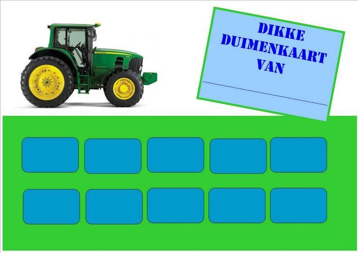 Beloningskaart tractor